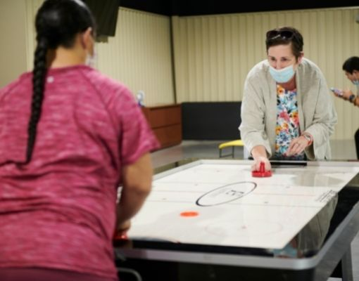 Employees Playing a Game