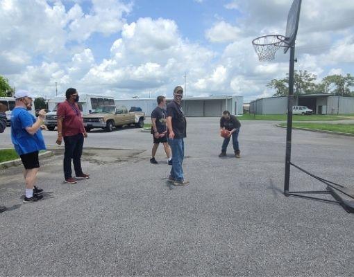 People Playing Basketball